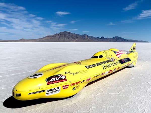 World's fastest electric vehicle runs EV-Controls T2C
